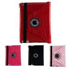 Premium Leather Smart 360 Rotating Stand Cover Case For Apple iPad 2 3 4