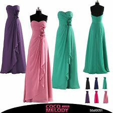 Sweetheart Long Cocktail Dress Bridal Party Gown Bridesmaid Dresses NEW SALE HOT