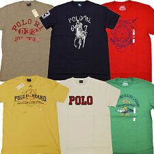 Polo Ralph Lauren Graphic T-shirt Lot of 5 Random Novelty Tee Jean Company New