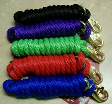 Mini Dog Kids Poly Lead Rope Trigger Bull Snap 6' ft Black Red Blue Purple Green