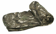 Portable Roll up Traveling Blanket Throw with Carrying Strap Camouflage