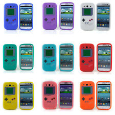 Silicone Gameboy Silicone Case For Samsung Galaxy S3 i9300 With Screen Protector