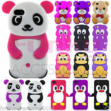 Funky Humorous Soft Animal 3D Silicone Skin Cover Case Cartoon Cute