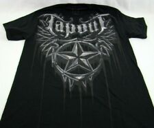 Mens NEW Tapout Black Star Distressed Logo Shirt Size M L XL