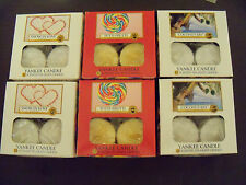 Yankee Candle Tealights Box of 12 U Choose Scent NEW in Box! Free Shipping USA
