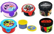 OFFICIAL LICENSED - KIDS CHARACTER PLASTIC SNACK POT LUNCH BOX FOOD SCHOOL GIFT