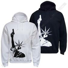 "Mens ''Liberty Gun"" hoodie hooded jumper sweatshirt top hoody"