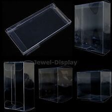 100Pcs Clear Plastic PVC Weddings Party Favours Gift Packaging Boxes Size Choice