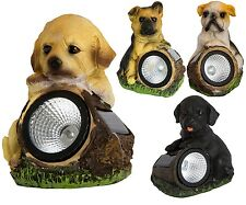 Solar Powered Puppies LED Outdoor Garden Patio Light Decorative Ornamental Lamps