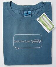 Message in a bubble tees  Men's Distressed Fishbones Bad to the Bones New w/tags