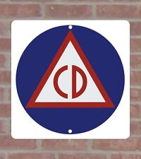 Civil Defense .040 Metal Aluminum Vinyl Sign
