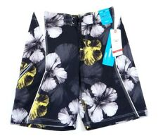 Speedo Speedry Flx System Black Floral Stretch Water Shorts Boardshorts Mens NWT