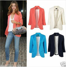 Womens Fashion Candy Color Seventh Volume Sleeve Jacket Blazer sz 8 10 12 14 16