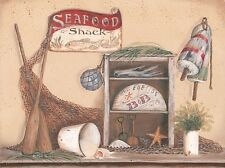 "Art Print / Framed / Plaque - Artist Pam Britton - ""Seafood Shack""  BR333"