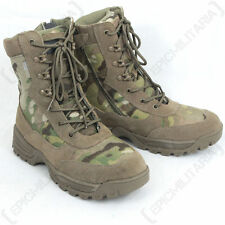 MULTICAM Military Side Zip TACTICAL Boots - All Sizes - Army Combat Style Shoe