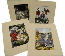 "Mounted Moorcroft Cards - choose your own - (ready to fit 10""x8"" frame)"