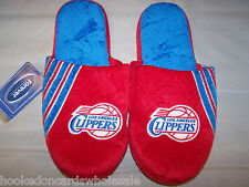 Los Angeles Clippers NBA Team Slide Stripe Big Logo Slippers Mens