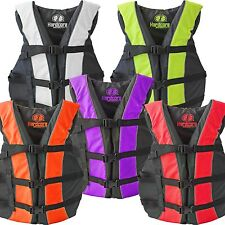 High Visibility Neon Adult & Kids Life Jacket PFD USCG Type III Ski Vest Fishing