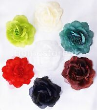 CLIP ON ROSE FLOWER TIE BACK POLYESTER FOR NET CURTAIN HOLD BACK VOILE PANEL