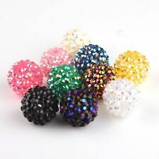 Multi Color Acrylic Resin Rhinestone European Spacer Charm Beads Fit Chain Hot