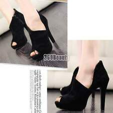 Women's Super-High Heel Platform Velvet Shoes Pump 2012 Fashion Sexy Fish Mouth