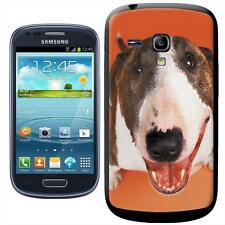 Bull Terrier Dog  Looking Up Hard Case For Samsung Galaxy S3 Mini