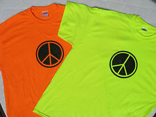 """PEACE SIGN"" TEE SHIRTS, Mixed Colors Including NEONS!  FAST SHIP! ""FREE SHIP"""