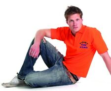 Printed Men's Pique Polo Shirt In Various Sizes & Colours Ideal For Stag Parties