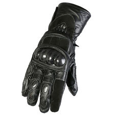 All Black Waterproof Winter Warm Motorcycle Motorbike Thermal Gloves With Armour