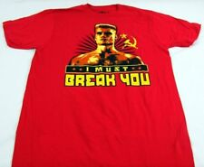 Mens NEW Red Rocky Movie Boxing Short Sleeve Logo Graphic T-Shirt Size S M L XL
