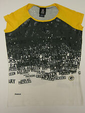 NEW Womens REEBOK Green Bay PACKERS Scoop Neck Shirt NFL Team Apparel