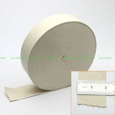 2 Inch Strong Beige 100% Natural Cotton Tape Webbing Strap Ribbon Sewing Crafts