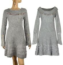 SAVE THE QUEEN SWEATER DRESS MOHAIR WOOL LONG SLEEVE EMBELLISHED