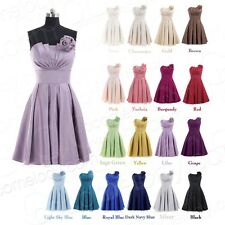 Strapless Short Cocktail Prom Dress Colorful Bridesmaid Dress Ball Gown NEW SALE