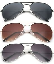 Men Women Small Frame Aviator Pilot Classic Top Gun Brown Silver Gold Mirror
