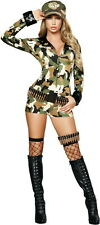 Adult Women Sexy Soldier Army Camo Suit Special Ops Costume Halloween Outfit New
