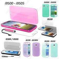 Housse Coque Etui Portefeuille Livre Silicone Samsung Galaxy S5 S4 S3 Mini Trend
