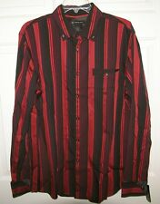 NWT INC INTERNATIONAL CONCEPTS L/S BUTTON UP SHIRT FRENCH CUFF STRIPE $60