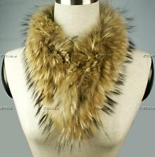 Women Graceful Soft Real TANUKI Ussuri Fur Warmer Collar/Scarf/Shawl