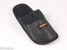 Mens House Slippers Slide Sandals Scuffs Cozy Warm Insoles Black Brown