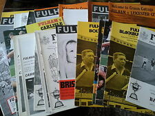 Fulham HOME programmes 1970's choose from list FREE UK P&P