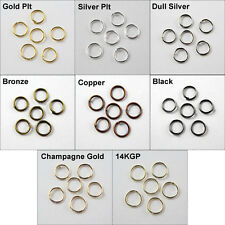 4mm 5mm 6mm 7mm 8mm 10mm 12mm 20mm Jump Rings Open Connectors Gold Silver etc.
