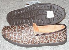 NEW BOBS SKECHERS Leopard Print Sparkle Slip on Shoes WOMENS bling faux fur