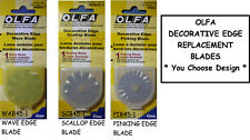 NEW OLFA DECORATIVE EDGE BLADE * Your Choice Design *  Pinking Wave Scallop 45mm