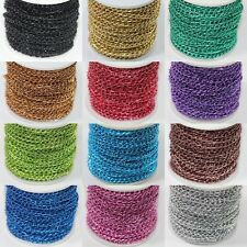 Wholesale 5/10/100 Meter Aluminum Chain Finding(Each ring about :4x6mm) 12Colors