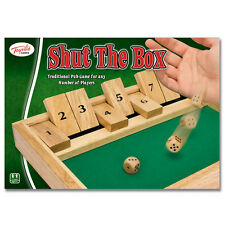 Toyrific Classic Games - Shut the Box - Double Six Dominoes - Cribbage -