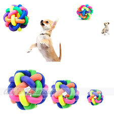 New Colorful Woven Dog Puppy Pet Rubber Funny Toy Globe Playing Chew Ball Bobble