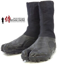 Durable Tabi Ninja Boots/Shoes w/ Spikes,Rikio Martial Art Black Ninja Jikatabi