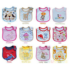 12 Styles Cute Lunch Bibs Kids 3 Layer Waterproof Cartoon Pattern Towel BD5U