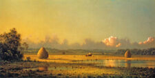 HAYFIELDS A CLEAR FARM DAY 1871 PAINTING BY MARTIN JOHNSON HEADE REPRO